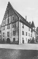 Seitenansicht des Rathauses (Postkarte) / Rathaus in 88491 Riedlingen (Bildindex Foto Marburg: LDA Tübingen (Postkarte) [Microfiche-Scan mi08859c08])