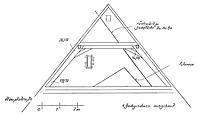 Systemskizze Querschnitt Dachwerk / Wohn- und Geschäftshaus in 79219 Staufen, Staufen im Breisgau (Burghard Lohrum)