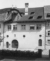 Fassade nach Südwesten (1968) / Mesmerhaus in 88709 Meersburg (Bildindex Foto Marburg (mi07242f12a))