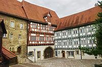 Ansicht Spitalhof gegen Nordost / Ehem. Bürgerspital in 74206 Bad Wimpfen (18.08.2011)