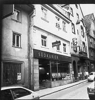 Straßenfassade / Wohnhaus in 88605 Meßkirch (01.01.1973 - Bildindex Foto Marburg: LAD BW/Tübingen, Microfiche-Scan mi07296f13)
