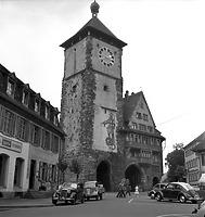 Schwabentor, Ansicht Feldseite (nach 1951, nach Wiederherstellung urspr. Zustand) / Schwabentor in 79098 Freiburg, Altstadt (Bildindex Foto Marburg: Aufsberg, Lala; Aufnahme-Nr. 773.532; 1941/1976)