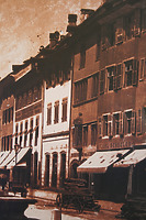 Historische Aufnahme der Marktstätte 1873 (Ausschnitt) / Wohnhaus in 78426 Konstanz (20.08.2013)