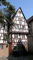 Südgiebel (21. Jh.) / Sog. Salzhaus in 74821 Mosbach (http://www.mosbach.de/Historischer_Rundgang_I.html#Salzhaus)