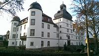 Ansicht gegen Südwesten / Schloss Pfedelbach in 74629 Pfedelbach (27.02.2014 - Lena Becker (München))