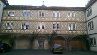 Hofseite Südflügel / Schloss Pfedelbach in 74629 Pfedelbach (27.02.2014 - Lena Becker (München))