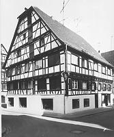 Hist. Ansicht gegen NO / Wohn- und Geschäftshaus in 88400 Biberach, Biberach an der Riß (Bildindex Foto Marburg: LAD BW/ Tübingen, Microfiche-Scan mi04935d10)