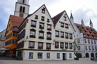 Ansicht West, Marktplatz 3- linkes Gebäude / Wohnhaus in 88400 Biberach, Biberach an der Riß (24.06.2018 - Christin Aghegian-Rampf)