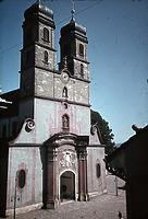 Westfassade von Südwesten (1943/45) / Münster St. Fridolin in 79713 Bad Säckingen (Foto Marburg: Aufnahme-Nr. LAC 9.034/24; Bilddatei fmlac9034_24; (color))