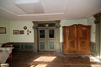 "Südwestlicher Eckraum 1. OG, ""Mengener Stube"" (Rückseite) / Heimatmuseum, ehem. ""Alte Post"" in 88512 Mengen (26.10.2011 - A. Kuch)"